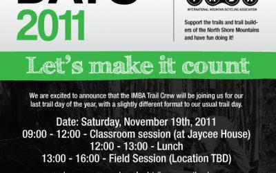 November 19th, 2011 – NSMBA / IMBA Trail Day