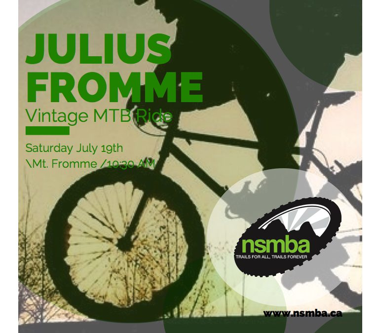 Julius Fromme Vintage MTB Ride – July 19th