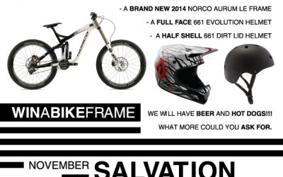Nov 9 Trail Day on Salvation sponsored by Norco John Henry Bikes
