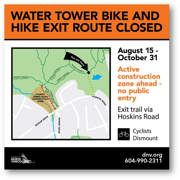 Temporary Trail Closure – Water Towers Exit
