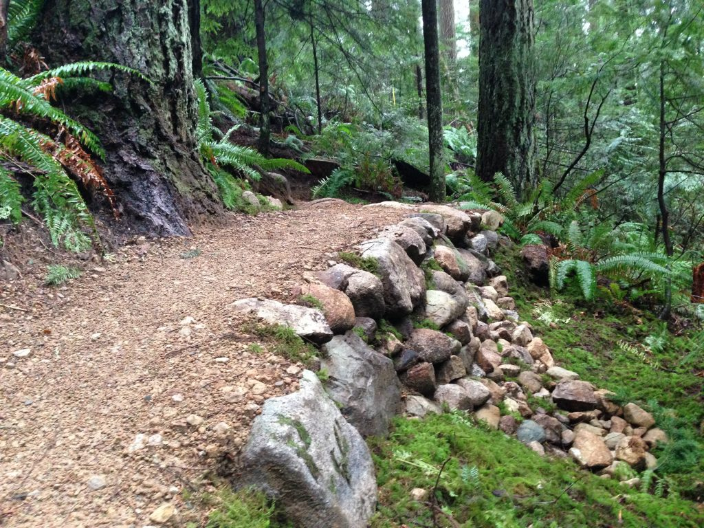 """Rock retaining wall on """"Infamous Corner 3"""" of Good Sir Martin (Photo: Penny)"""