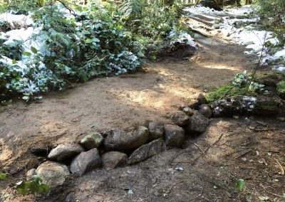 Raising the trail bed on Bridle Path