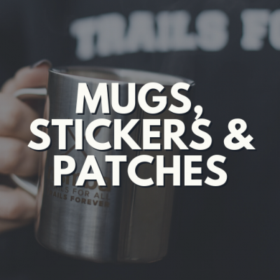 Mugs, Stickers and Patches